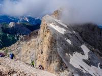 Marmolada Westgrat Klettersteig - Blick hinüber zum Gran Vernel