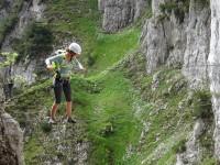 Seilbrücke im Klettersteig Klamml