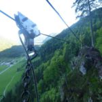Flying Fox beim Adolari Klettersteig