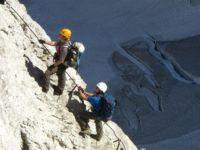 oberer Teil Höllental Klettersteig Zugspitze