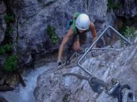 Klettersteig Rongg Wasserfall Gargellen