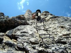 Klettersteig Pisciadu : Pisciadu klettersteig via ferrata tridentina