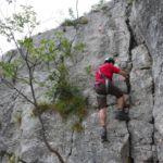 Colodri Klettersteig Arco am Gardasee - die Ausstiegsstelle