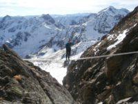 Seilbrücke im Glödis Klettersteig - Bilder: Sandra Poschinger