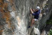 Klettersteig Burg : Klettersteig quarzit wand burg laudeck bergsteigen