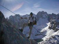 Klettersteig Coburger Hütte : Klettersteig tajakante vorderer tajakopf mieminger kette