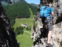Klettersteig Ottenalm : Bergkameraden klettersteig harauer spitze