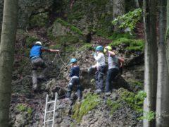 Klettersteig Fränkische Schweiz : Via ferrata bambini ↔ kinderklettersteig