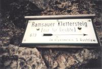 Ramsauer Klettersteig Hinweistafel