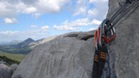Der Ausstieg mit Blick ins Valle di Lanaittu