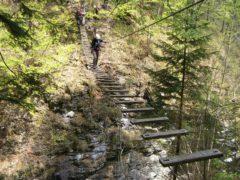 Klettersteig Postalmklamm : Postalmklamm klettersteig