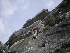 Klettersteig Ilmspitze : Schlicker klettersteig große ochsenwand stubaital