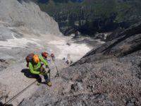 Klettersteig Magnifici Quattro : Kaiserjägersteig klettersteig col ombert