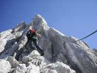 Klettersteig Ehrwald : Klettersteig tajakante vorderer tajakopf mieminger kette