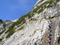 Klettersteig Höllental : Höllental klettersteig zugspitze