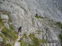 Klettersteig Che Guevara : Im klettersteig ernesto che guevara auf den monte casale