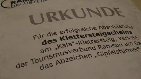Klettersteigschein in Ramsau am Dachstein
