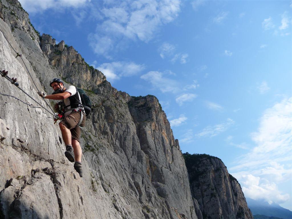 Klettersteig Via Ferrata : Alpspitze klettersteig via ferrata