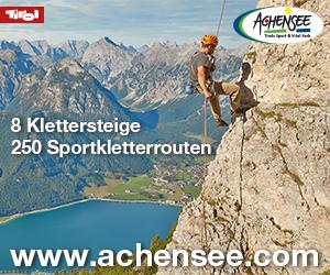 Klettersteig Achensee : Achensee u via ferrata klettersteige