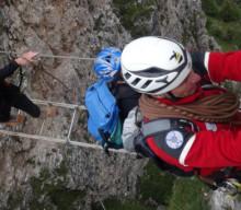 Rettung aus abgebautem Klettersteig