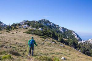 Black Diamond Trail Pro Trekkingstöcke im Einsatz auf der via dalmatica