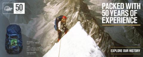 [ANZEIGE] 50 Jahre Lowe Alpine