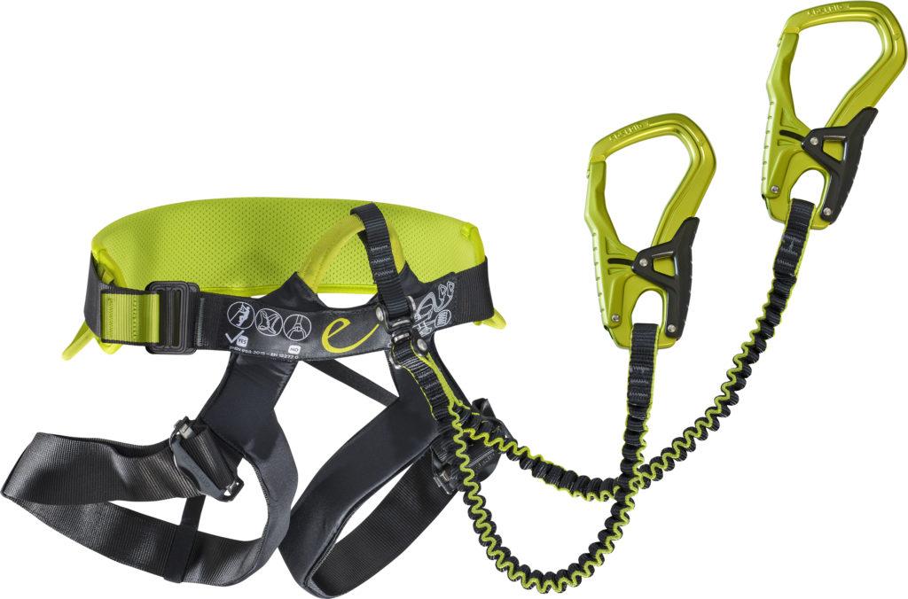 Klettersteig Set : Edelrid jester comfort u klettergurt und klettersteigset in einem