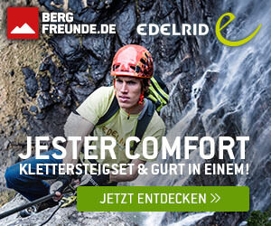 Klettersteigset Am Klettergurt Befestigen : Edelrid jester comfort u klettergurt und klettersteigset in einem