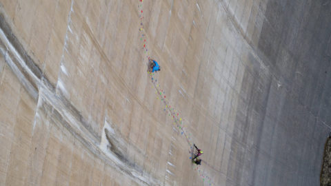 The Wall (7+) – Klettern an der Schlegeis Staumauer