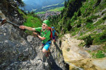 Klettersteig Hausbachfall -® Eisele Hein