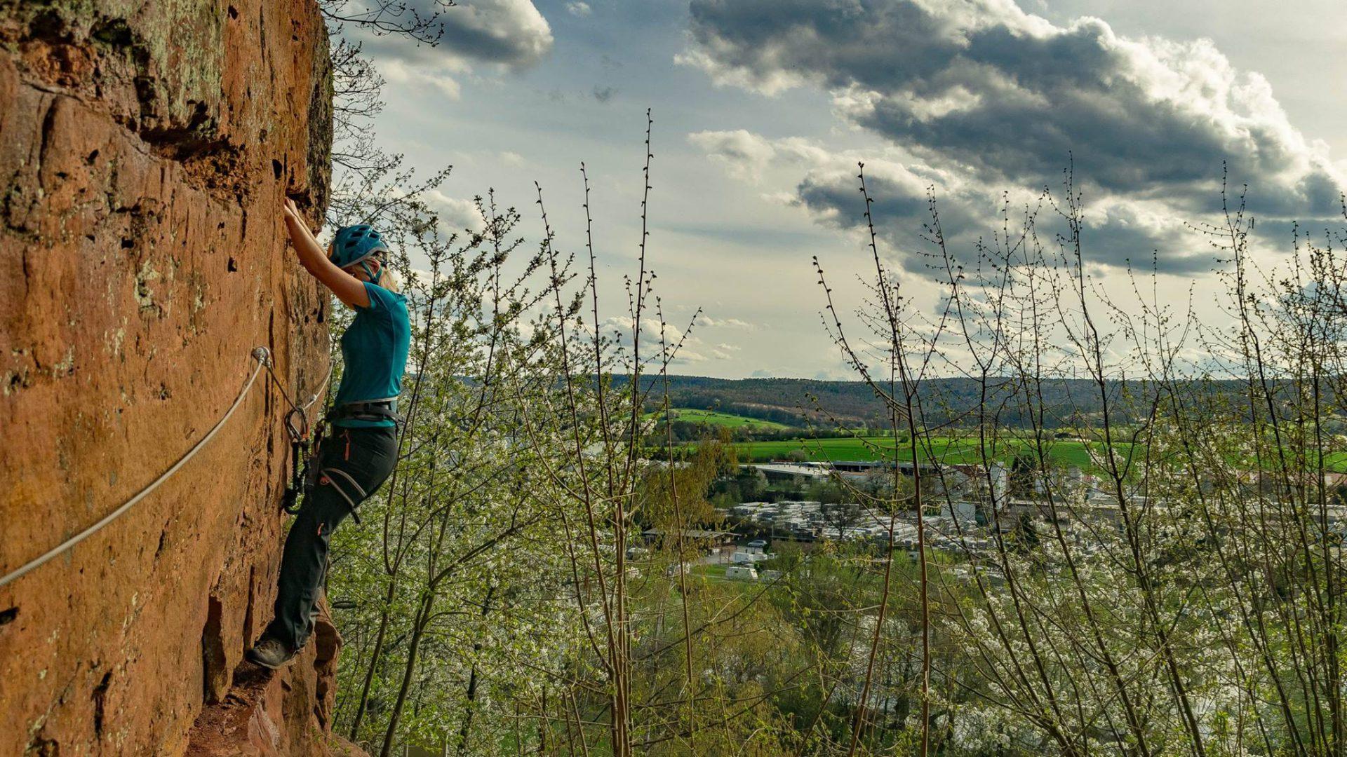 Klettersteig Hessen : Klettersteige bei frankfurt u die klettersteig trilogie im odenwald