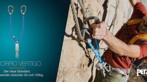 Klettersteigset Petzl Scorpio Vertigo : Klettersteige ↔ top touren zwischen wandern & klettern via