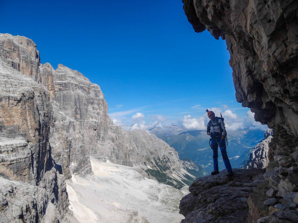 Klettersteig Via Ferrata : Klettersteig via ferrata italiana al mangart bergsteigen