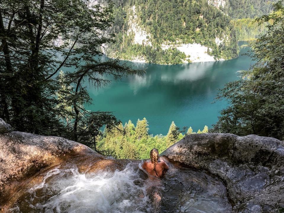 Königsbach Wasserfall Gumpe Königssee Pool   Bild: Rebecca Schoor