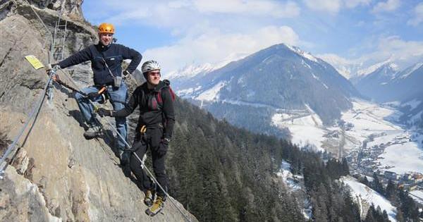 10 Klettersteige für die Winter Monate