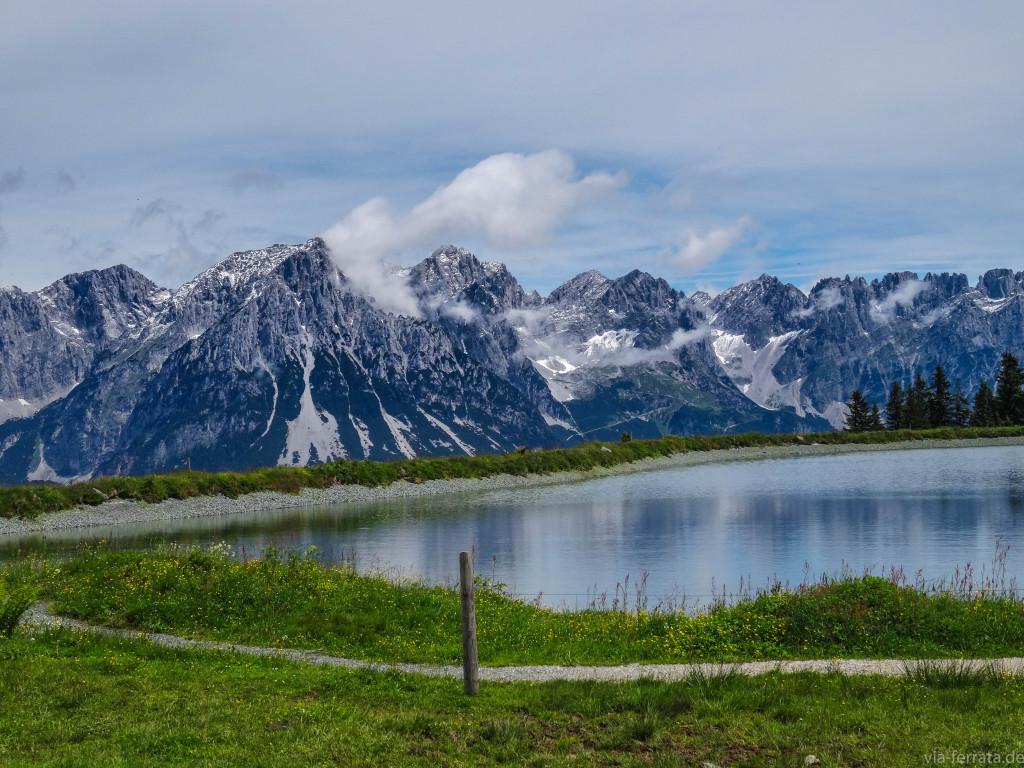 Speichersee in der Skiwelt Wilder Kaiser